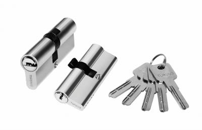 Цилиндр алюминий 80мм (ключ-ключ), 5 ключей