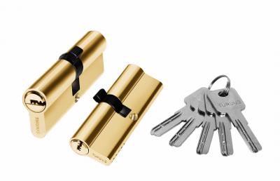Цилиндр алюминий 90мм (ключ-ключ), 5 ключей