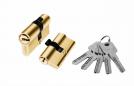 Цилиндр алюминий 60мм (ключ-ключ), 5ключей