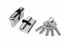 Цилиндр алюминий 60мм (ключ-ключ), 5 ключей