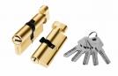 Цилиндр алюминий 80мм (ключ-завертка), 5 ключей